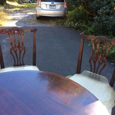 Chippendale Dining Table and Chairs circa 1921 (Rest of set possible)