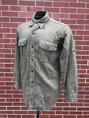 Original Vintage 1940's 40's WWII WW2 Canadian Military Army Wool Service Shirt