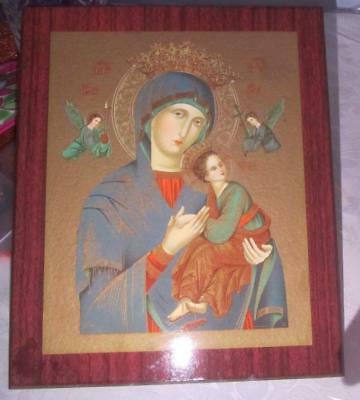 "Wooden Russian Byzantine Icon Madonna and Child Picture (11"" X 10"")!"