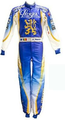 Praga-Blue Go Kart Racing Suit Cik Fia Level Ii ( Sublimation Printing )