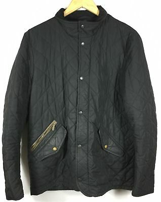 Barbour Men's Chelsea Sportsquilt Collard Black Jacket Size M