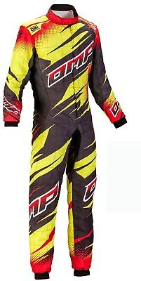 Omp-Yellow-Black Go Kart Racing Suit Cik Fia Level Ii (Sublimation Printing )