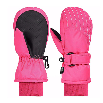 Andake Kids Ski Mittens, 3M Thinsulate Warm Waterproof TPU Layer & Extended...