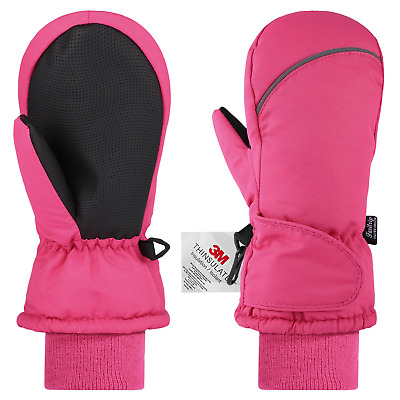 Fazitrip Ski Mittens, Girls/Boys Windproof Waterproof Winter Gloves with 3M...