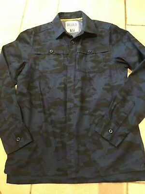 Boys Navy camouflage Shirt by Matalan Age 12 years
