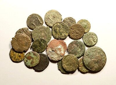 Lot Of 20 Imperial Roman Bronze Coins For Identifying - 10
