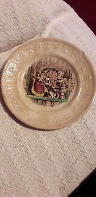 Alphabet Punch And Judy Nursery Plate Victorian 7 Inches