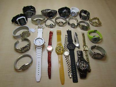 Mens Womens Jewelry Watch Lot w/ Swatch Casio Pulsar Seiko AS IS