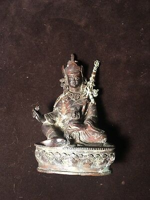 Antique Bronze Budhha Statue Very Old Signed