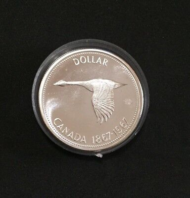 1967 Canadian Proof-Like Silver Dollar Coin in Capsule item #6