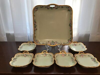 Antique Nippon Berry Bowl Set - Hand Painted