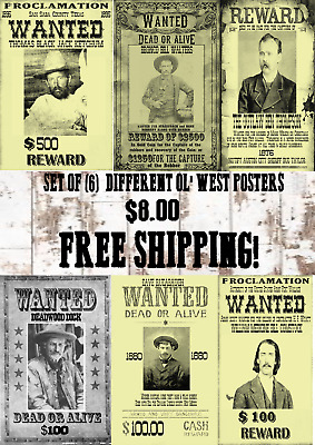 Old West Wanted Poster Outlaw Ringo Western Deadwood Reward