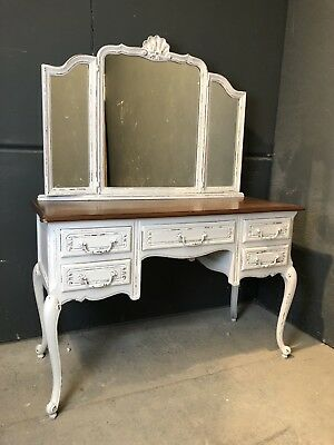 Vintage French Dressing table / Painted French   shabby chic style (VB321)