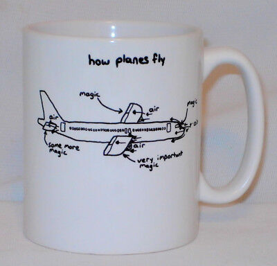 How Planes Fly Mug Can Be Personalised Great Funny Engineer Pilot Magic Gift Cup