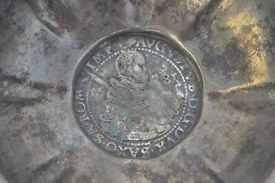 1581 German States Silver Taler Saxony-Albertine Line August 800 Bowl Coin