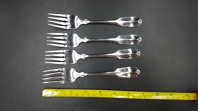 4 Oneida WM A Rogers Deluxe GLORIA / MONTCLAIR Stainless Salad Forks