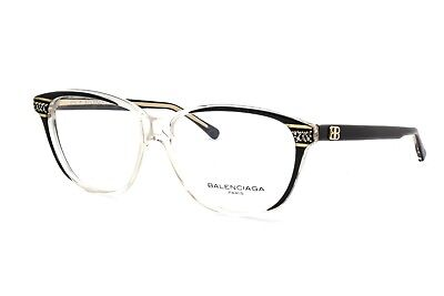 06b2bd2762650 New Vintage Authentic Balenciaga BAL 2768 Black Clear 57mm Frames Eyeglasses  RX