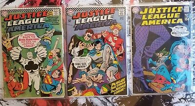 Justice League of America 43 44 75 Lot 1st App. Black Canary & Royal Flush Gang