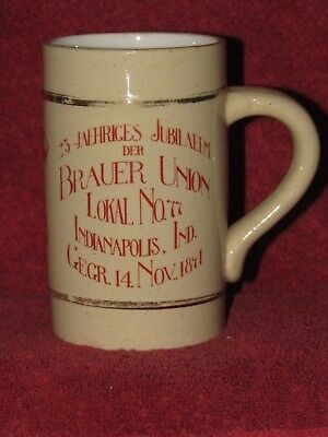 International Union of the United Brewery Workmen pre pro mug 1891 Indianapolis