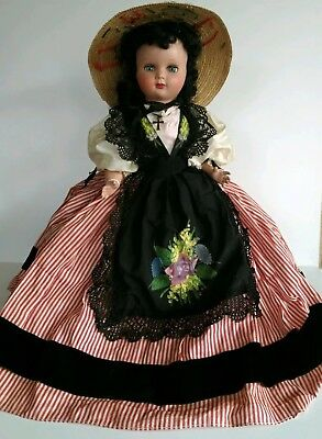 Vintage French Doll Hard Plastic Made in France All Original Outfit Savoyard
