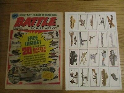 Battle Picture Weekly comic #3 - 22 Mar 1975  with free gift cards