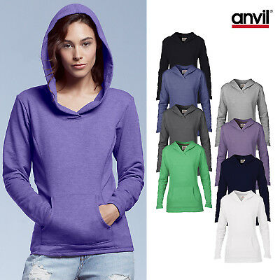 Anvil Women's Hooded French Terry 72500L - Ladies Plain Soft Casual Hoodie Top