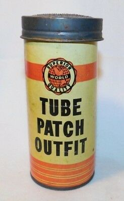 RARE Continental Prod Tube Repair Kit Advertising Motorcycle Car Tire Patch Tin