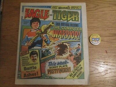 EAGLE & TIGER Comic - No 168 - Date 08/06/1985 -  with weetabix badge free gift