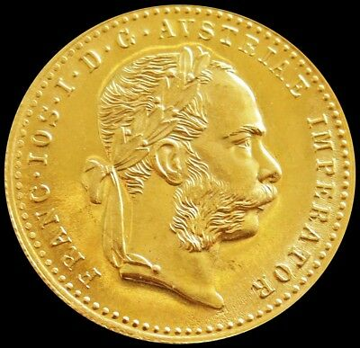 1915 Gold Austria Ducat 3.49 Grams Proof Like Official Restrike Coin