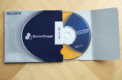 SonicStage V1.5 AE Software CD-ROM NetMD for MiniDisc