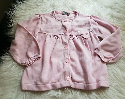 girls 18-24 months knitted bow cardigan jumper coat bolero party clothes next