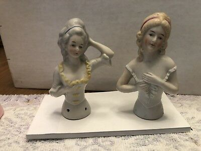 Porcelain Pin Cushion Dolls 2 From Germany On Back 7  And 6347