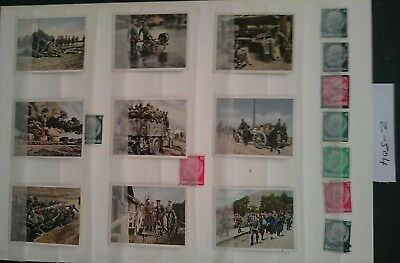 German Ww1 ,picture Cards / Stamps, 1914/18 German Army ,kaiser,somme