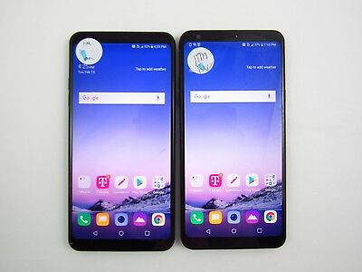 Lot of 2 Cracked LG Stylo 4 Q710TS T-Mobile Check IMEI CR 3-318