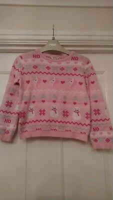 Girls Jumper In PINK Unicorn Design Age 5-6 years by E-Vie
