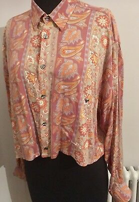 Vintage Chinese Laundry Paisley Psychedelic 1960's/ 70's Customised Shirt