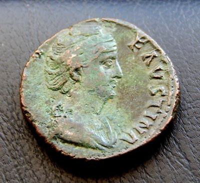 915-INDALO- Roman Empire - Faustina I - Æ Sestertius, after 141 AD.- Vesta !!!!!