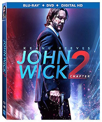 JOHN WICK Chapter 2 Blu-ray+DVD+DigHD 2017 Keanu Reeves Action [See Description]