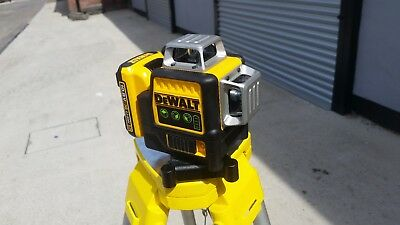 DeWalt DCE089G 3 Way Laser. Green. Fully Working With Charger & New Li Battery
