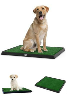 Dog Pad Puppy Potty Trainer Three-Layer System Dogs Cat Grass Mat Poop Place NEW