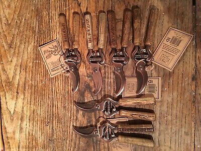 Lot of 6 copper plated secateurs garden pruners