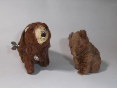 2 Vintage German Bears - Wind Up Grizzly Bear Wagner kunstlerschutz & Max Carl +