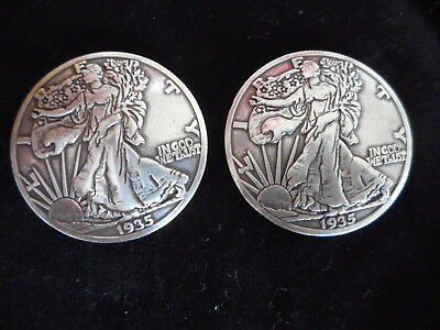 Set of 6 WESTERN TACK STONE MOUNTAIN JACKSON LEE REPRODUCTION COIN CONCHOS