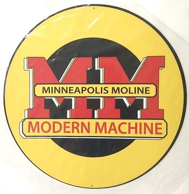 Minneapolis Moline Modern Machine 14 inch metal sign