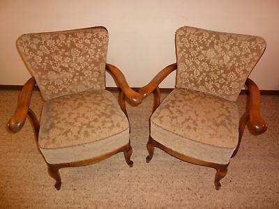 2x Chippendale Sessel, Cocktailsessel, Barock, Retro, Vintage