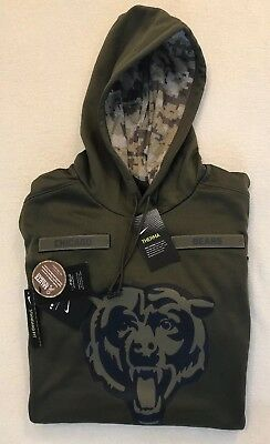 Nike Chicago Bears 2018 NFL Salute to Service Hoodie Jacket - NEW - 3XL  Football 98c814d21
