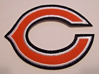 """Chicago Bears """"C"""" Embroidered PATCH~2 1/2"""" x 3 1/8""""~Iron Sew On~NFL~Ships FREE"""