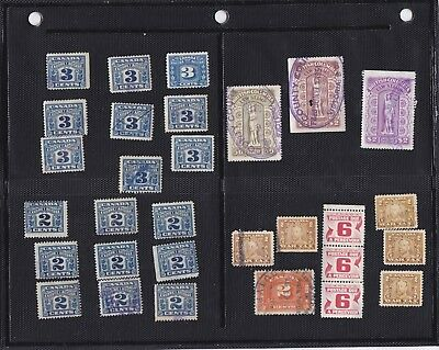 Canada Revenues 30 Stamps and British Columbia Law Stamps