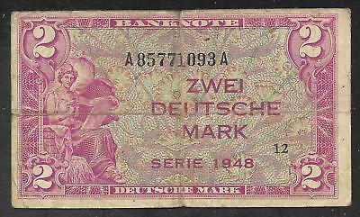 West Germany - Old 2 Mark Note - 1948 - P3a - FINE
