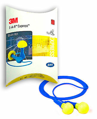 1 Pair 3M Ear Earplugs Express Ear Plugs Ear Protection with Band